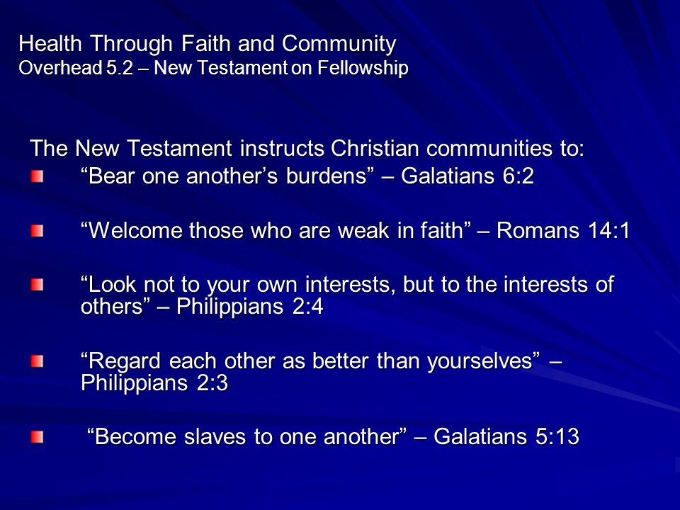 Health Through Faith and Community Overhead 5