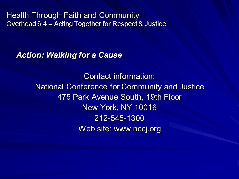 Action: Walking for a Cause