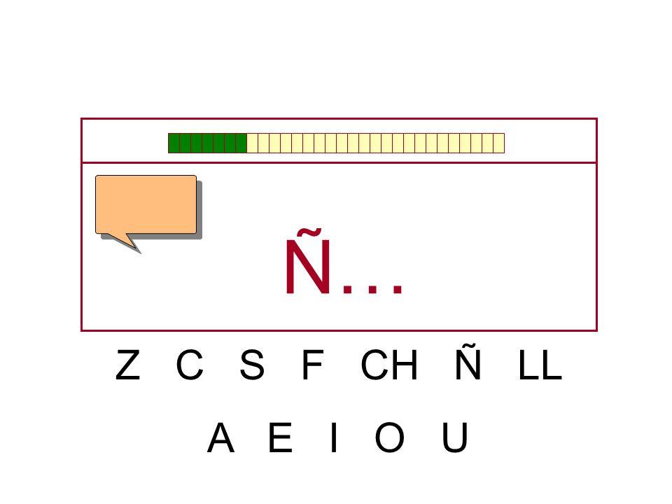 Ñ… Z C S F CH Ñ LL A E I O U