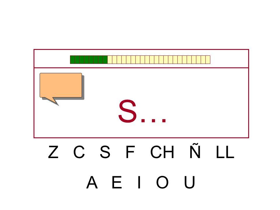 S… Z C S F CH Ñ LL A E I O U