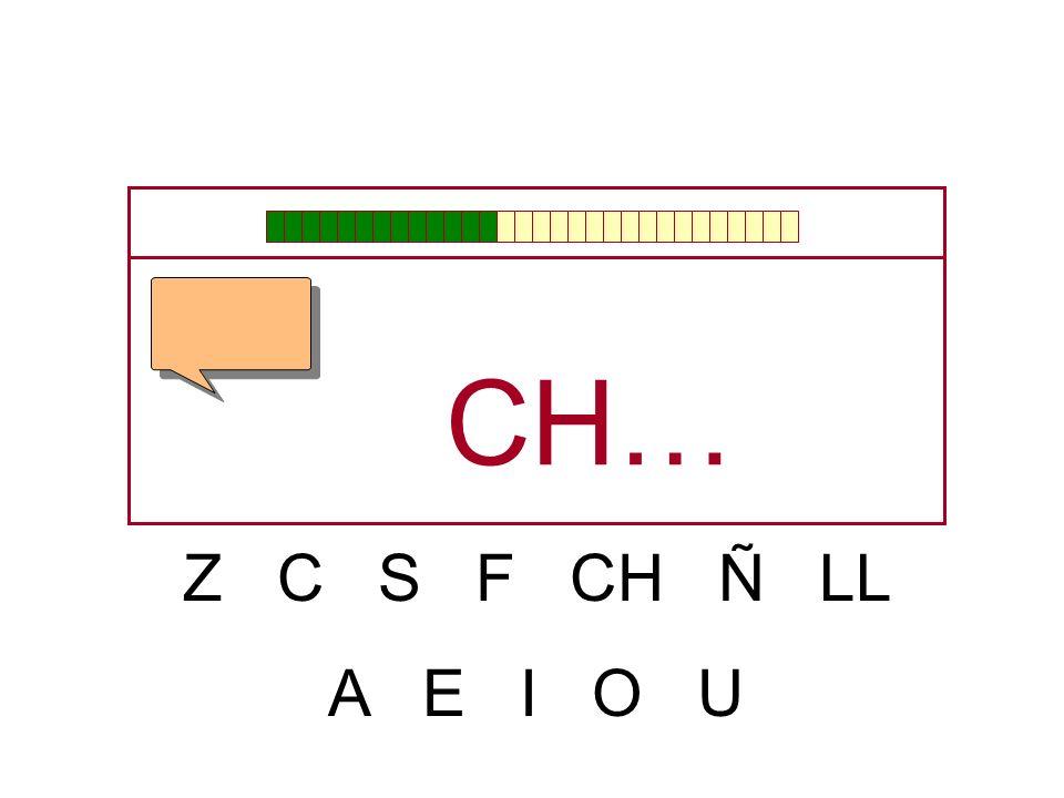 CH… Z C S F CH Ñ LL A E I O U