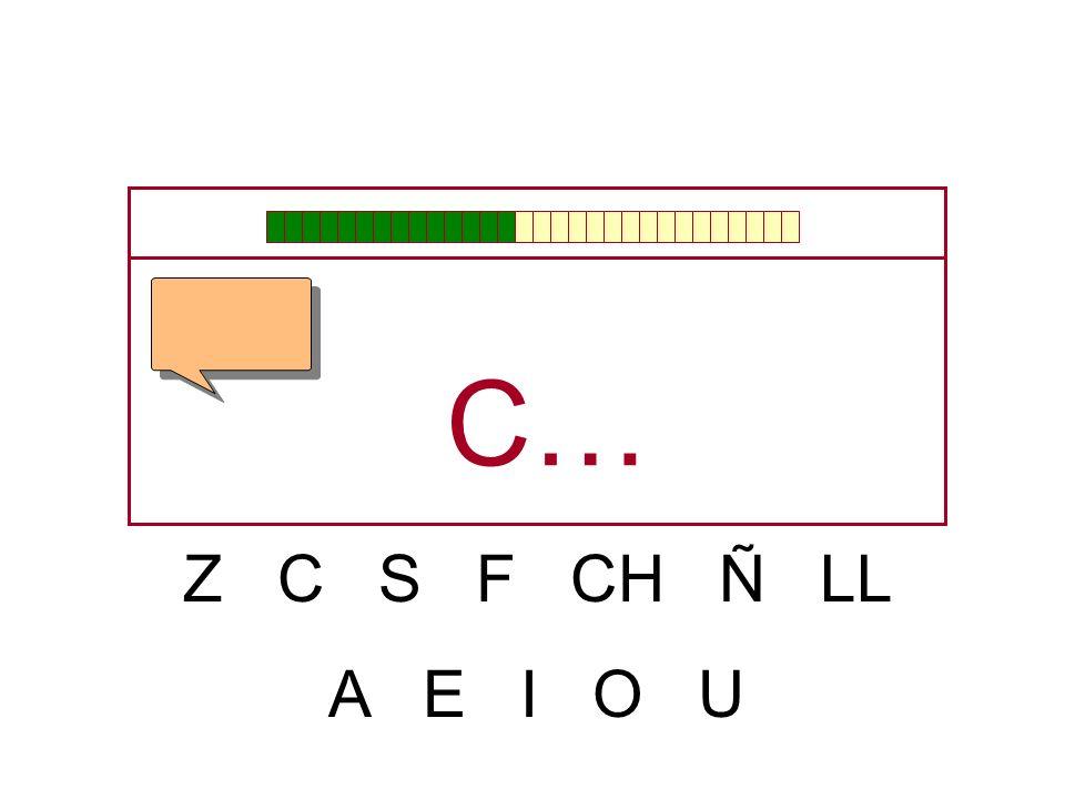 C… Z C S F CH Ñ LL A E I O U