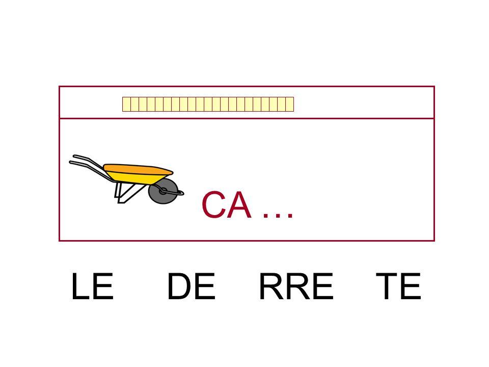 CA … LE DE RRE TE