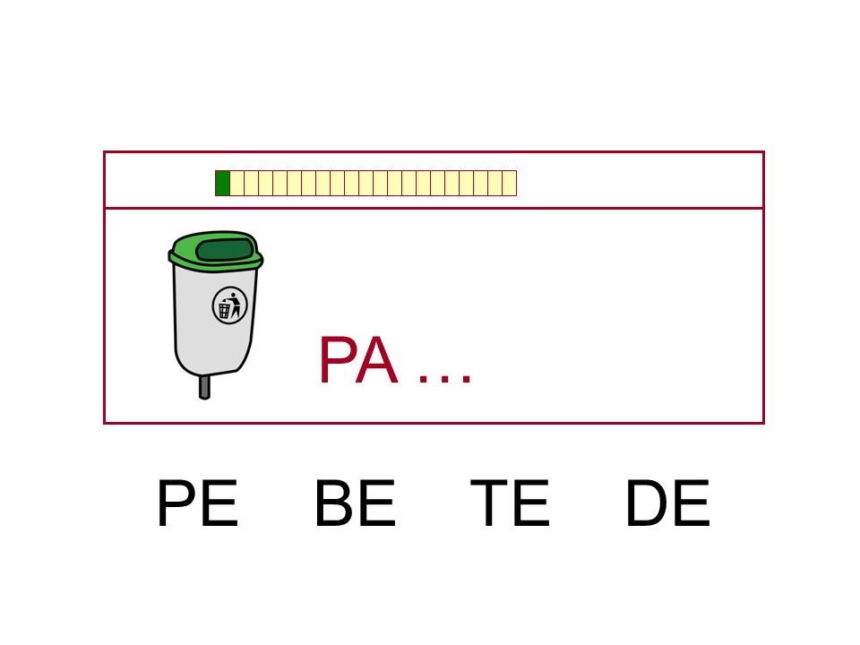 PA … PE BE TE DE