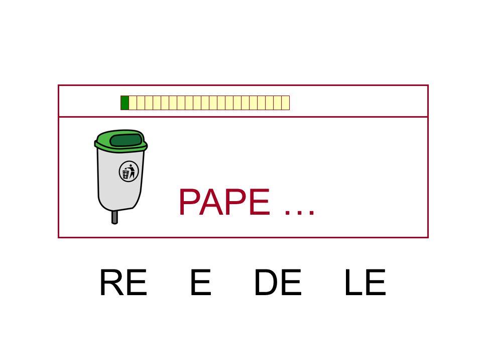 PAPE … RE E DE LE