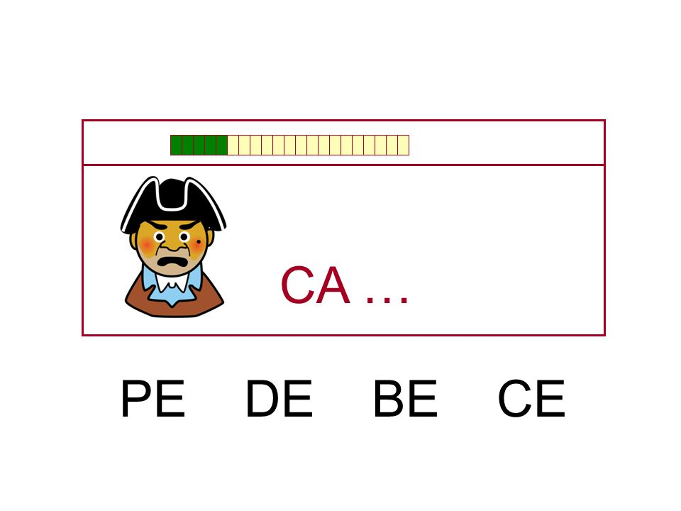 CA … PE DE BE CE