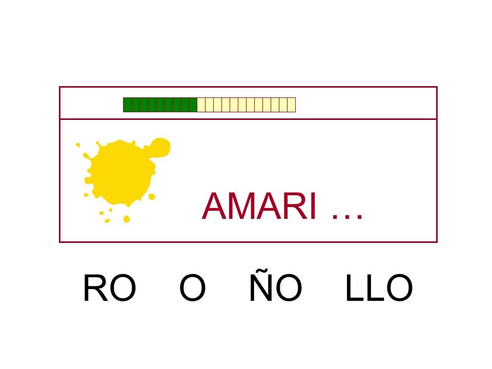 AMARI … RO O ÑO LLO
