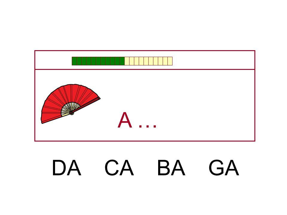 A … DA CA BA GA