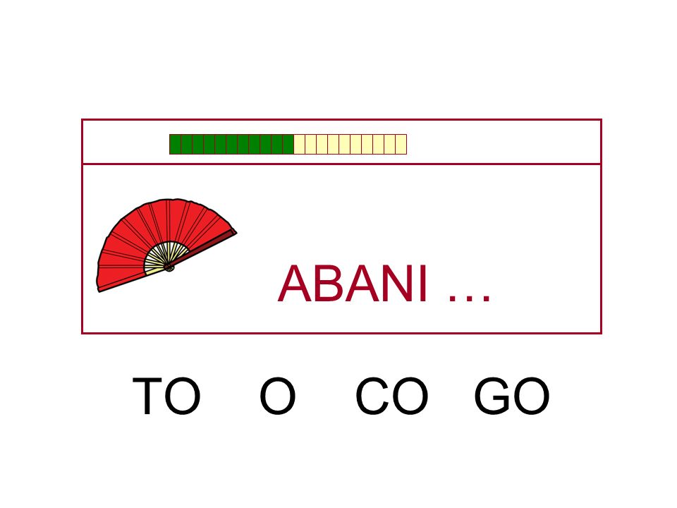 ABANI … TO O CO GO