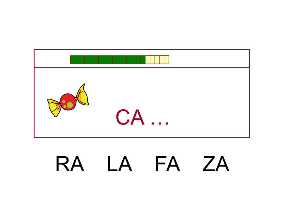 CA … RA LA FA ZA
