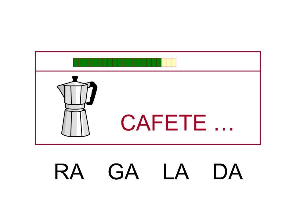 CAFETE … RA GA LA DA