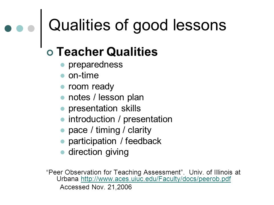Top Qualities of an Effective Teacher