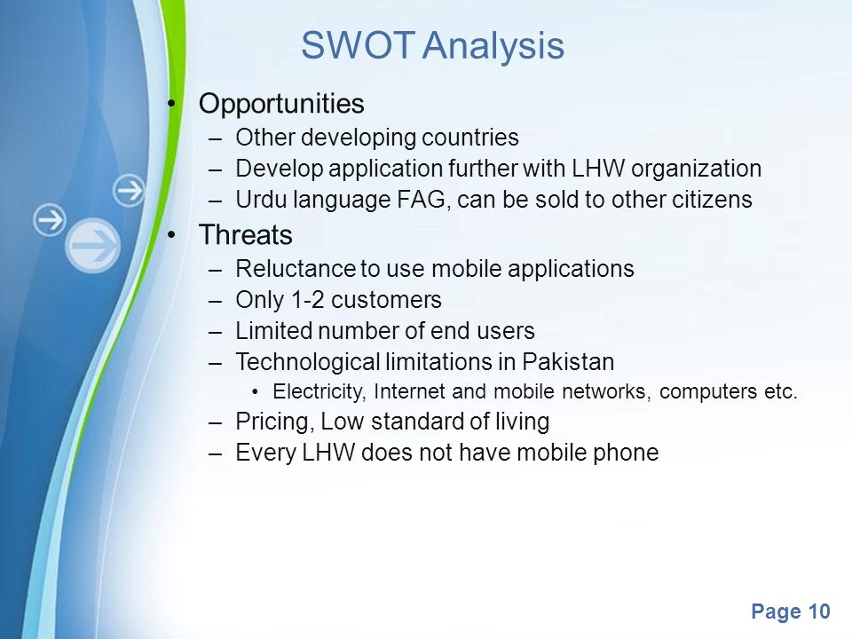 swot analysis for mobile phone company Learn how to do a swot analysis to with a free marketing strategy template and   a swot analysis helps you understand internal and external factors that can.