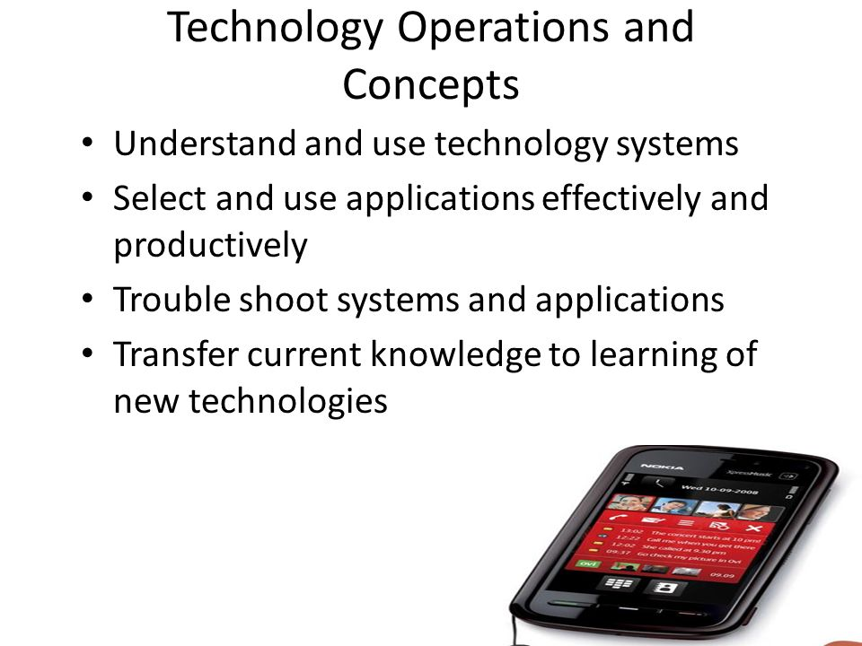 Technology Operations and Concepts