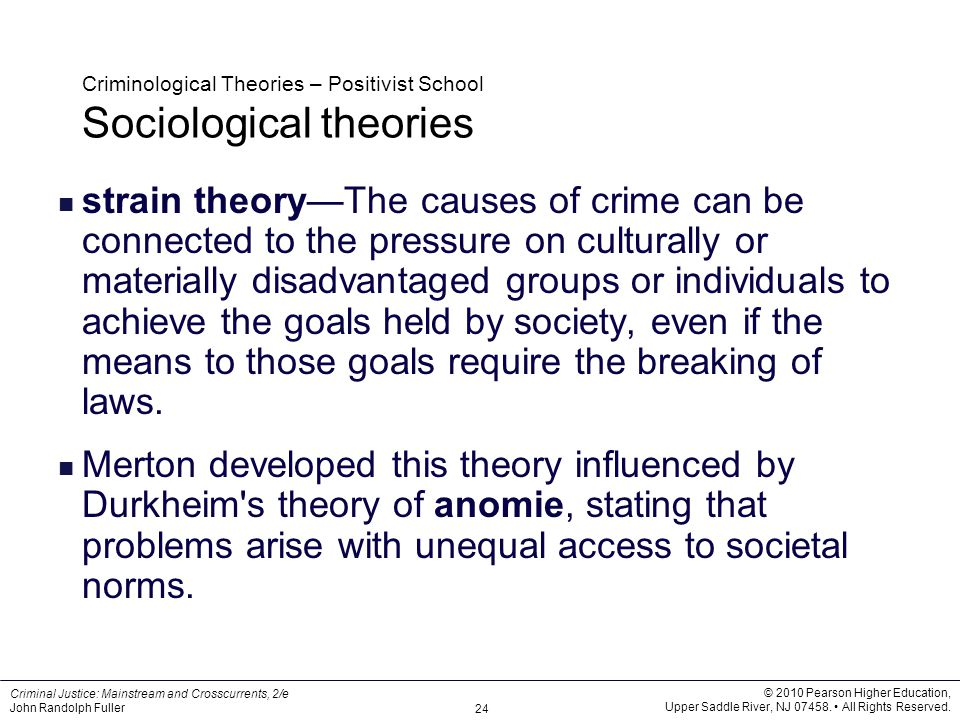 positivist theory crime Get an explanation of positivism, a theory developed by auguste comte who held  that truths about social science could be made like in natural.
