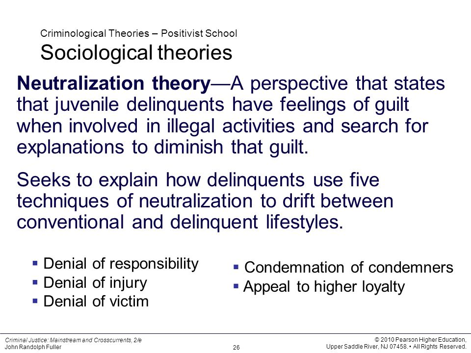 theories and techniques of crime control An in-depth look at the different criminology theories explaining various reasons why certain  one can develop ways to control crime or rehabilitate the .