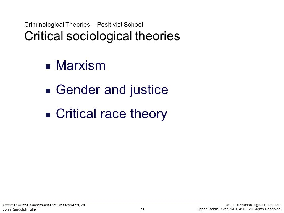 positivist theory crime These 10 theories of crime examine the psychological and sociological factors that drive, create and deter crime course categories positivist theory.