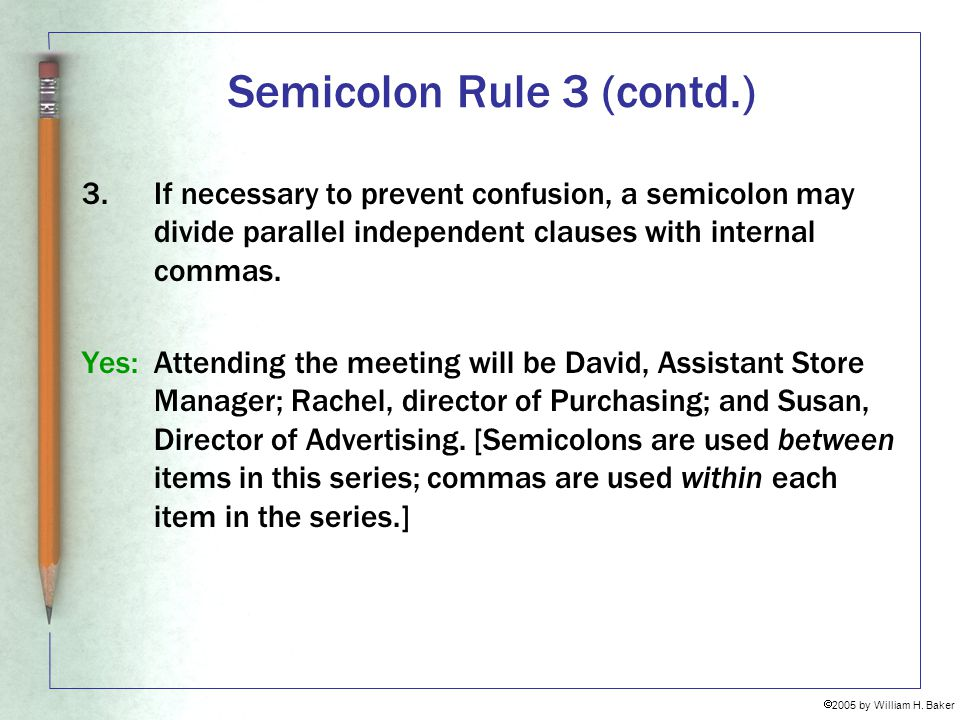 Semicolon Rule 3 (contd.)