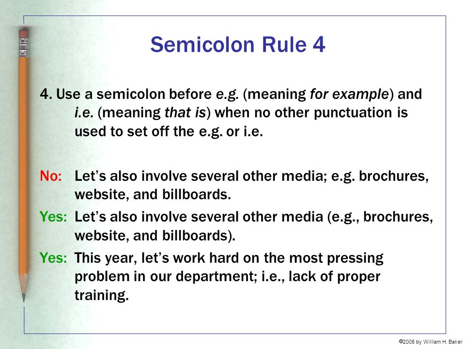 Semicolon Rule 4