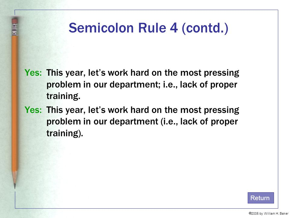 Semicolon Rule 4 (contd.)