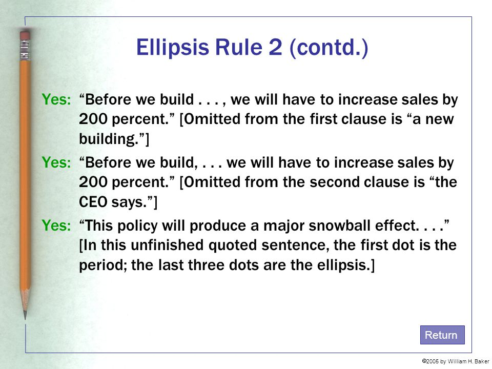 Ellipsis Rule 2 (contd.)