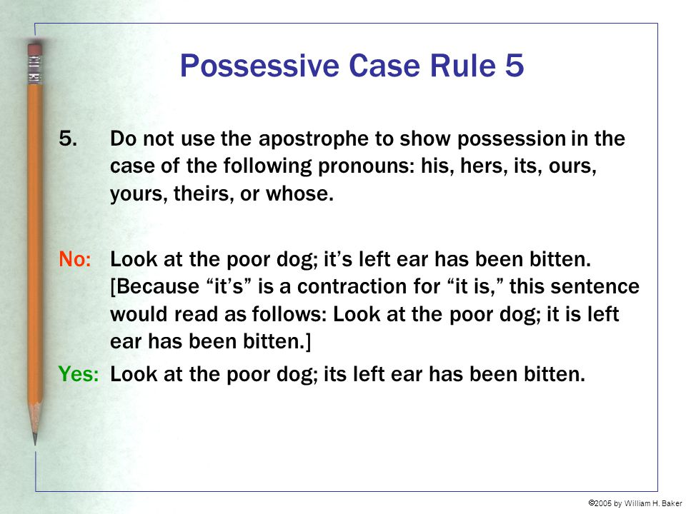 Possessive Case Rule 5