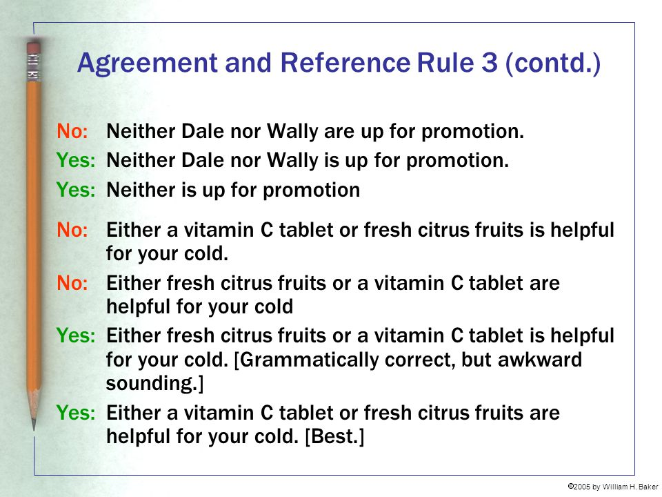 Agreement and Reference Rule 3 (contd.)