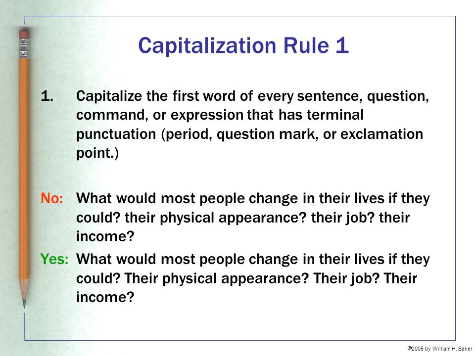 Capitalization Rule 1