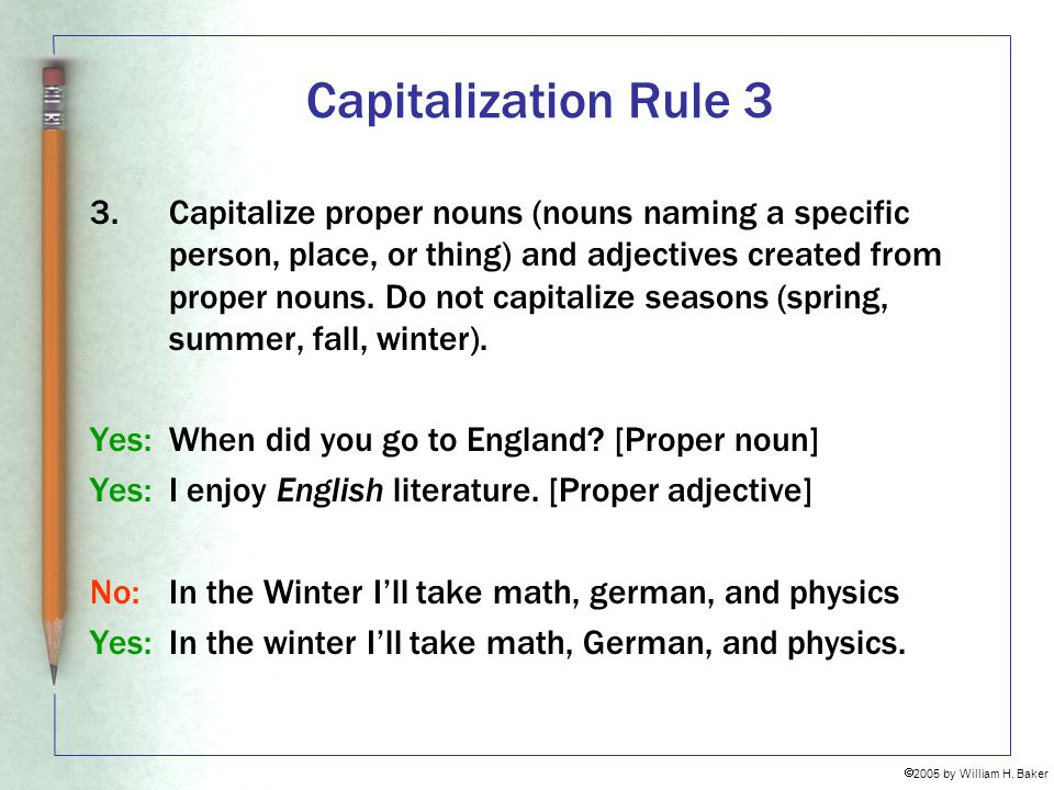 Capitalization Rule 3