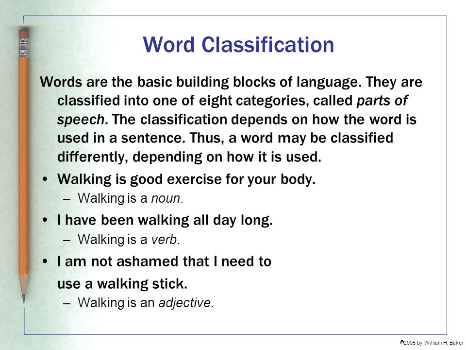Word Classification