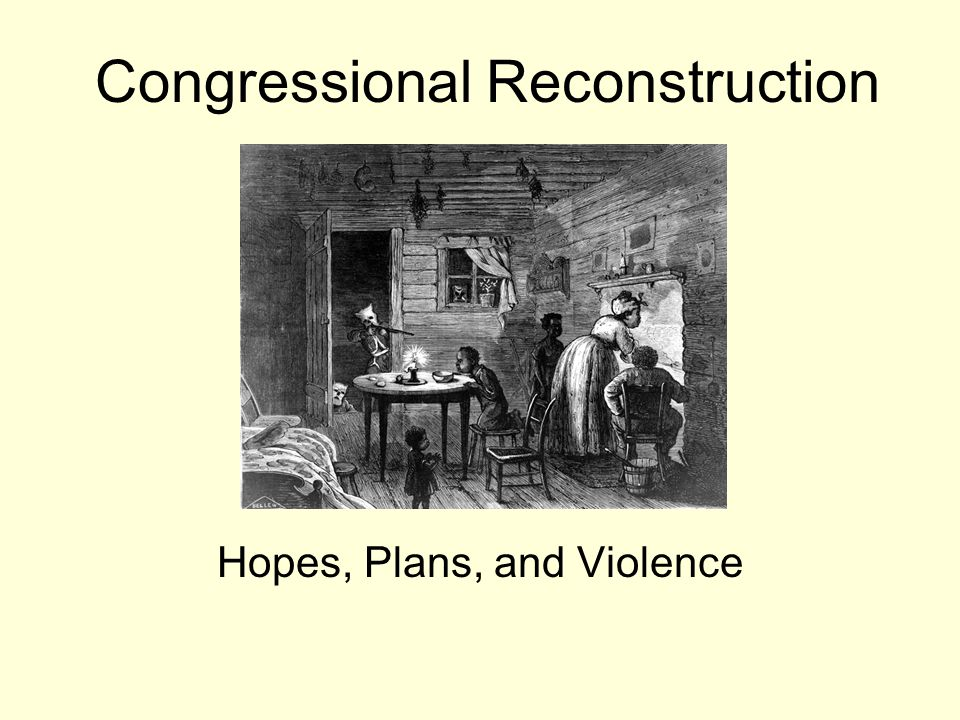 what is the congressional reconstruction