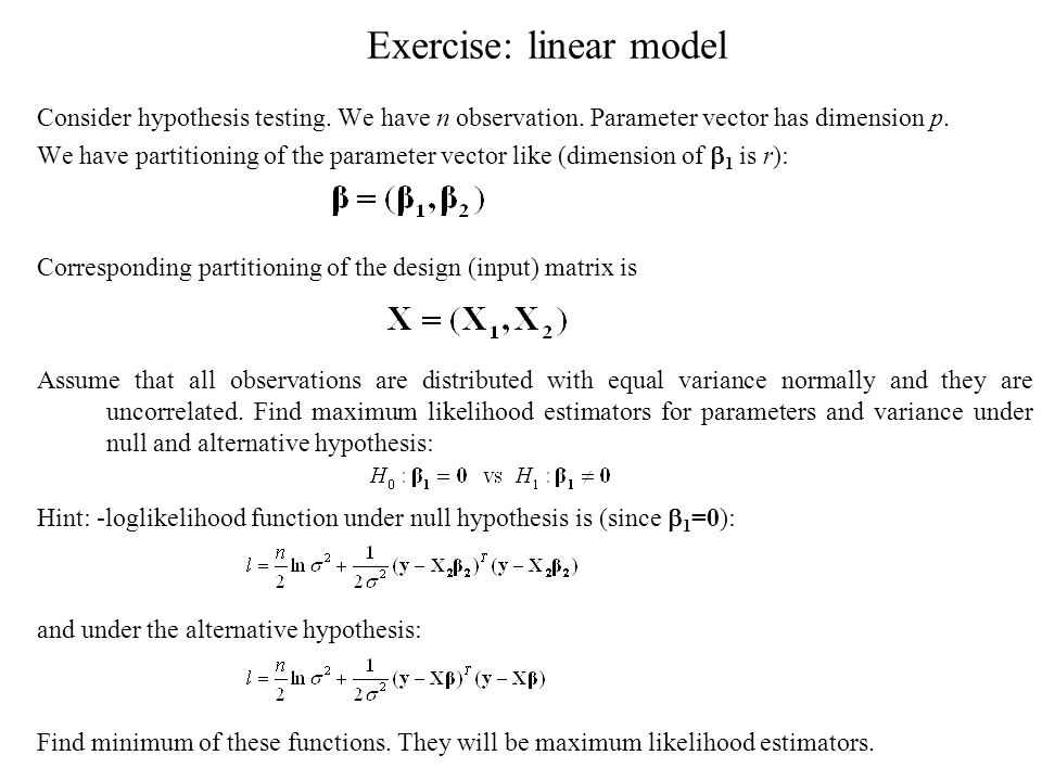 Exercise: linear model