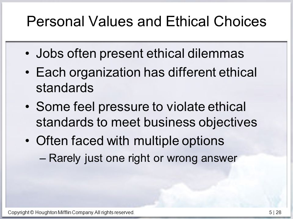 how values affect decisions in personal Personal values were linked with the financial decision making as financial   they will come to know how investor decisions can be affected and investors can .