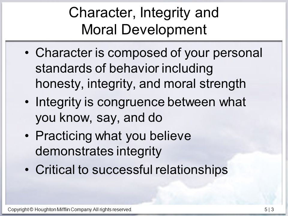 what is the relationship between personal standards and values