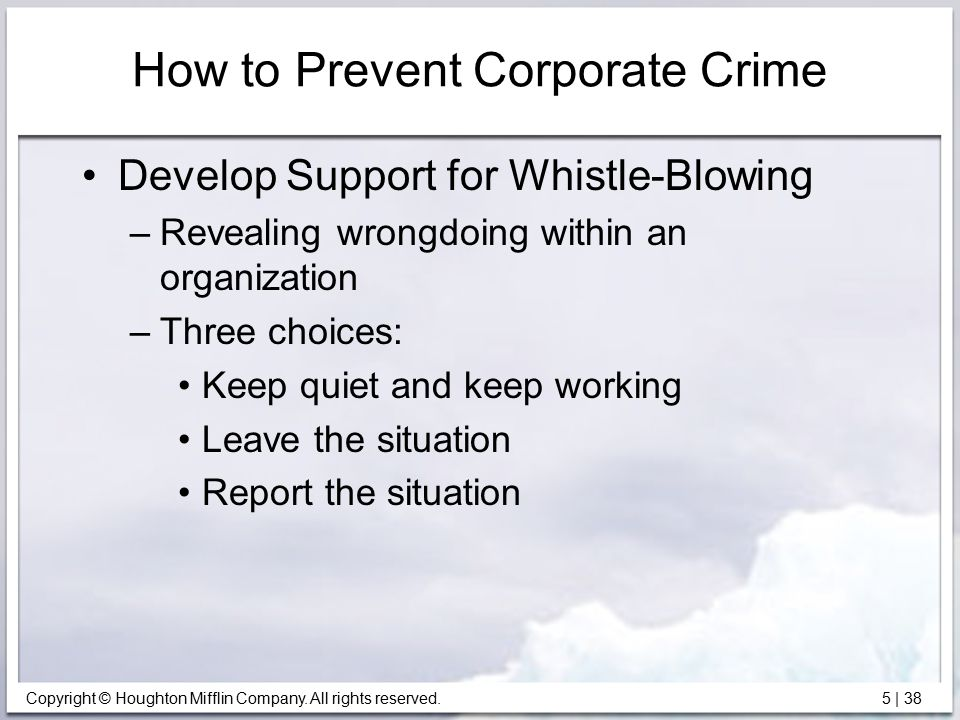 is whistle blowing good for an organization Prime examples of how important whistle blowing can be for an organization are the past scandals of enron, worldcom, and the bernie madoff scandal of 2008 reflecting on the worldcom.