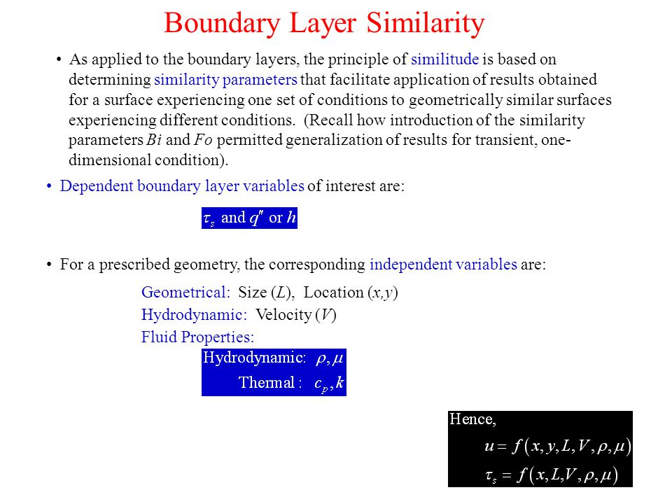 Boundary Layer Similarity