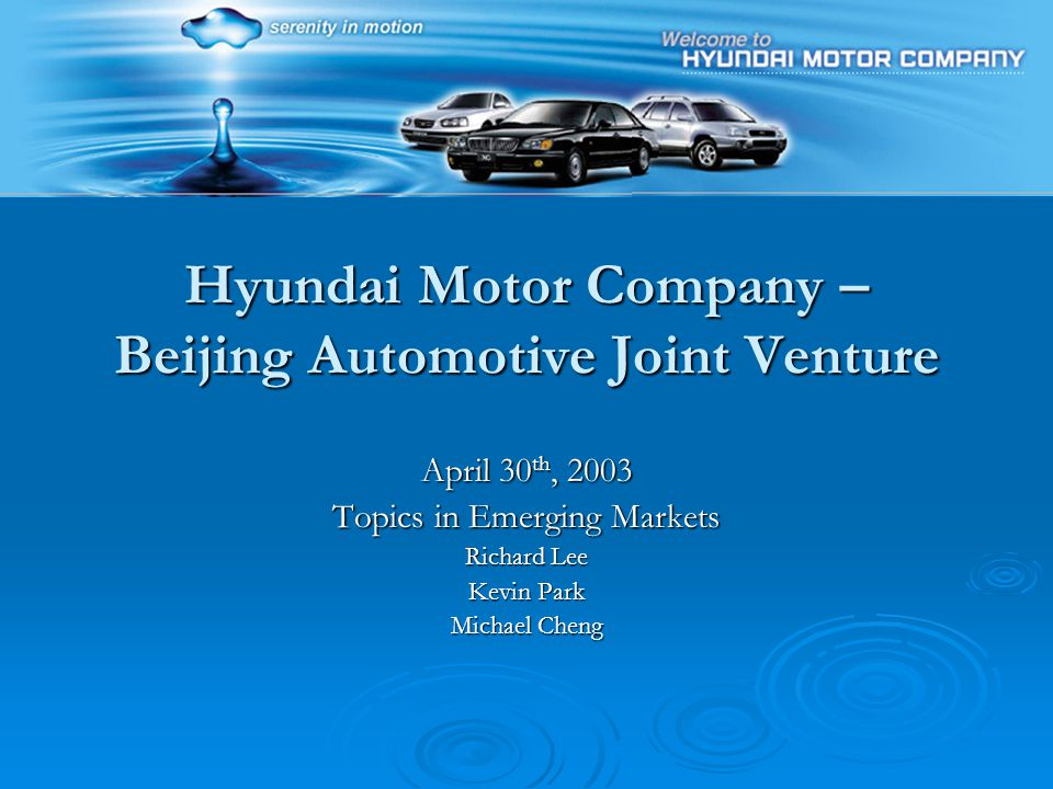 Hyundai motor company beijing automotive joint venture for Hyundai motor finance contact
