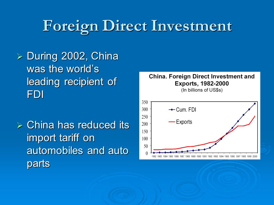 the effects of foreign direct investment on the performance of the canadian economy The impact of foreign direct investments on economic growth in china during the era 1979-2009 bachelor thesis supervised by the institute for empirical research in.