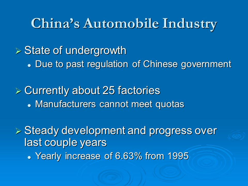 industrial impact on automobiles after china Industrial development in latin america  to assess the impact that china has had on these developments in latin america,  fiat chrysler automobiles/flickr.