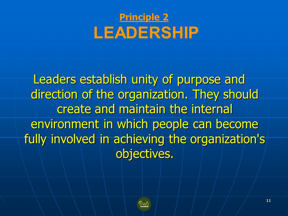 Principle 2 LEADERSHIP
