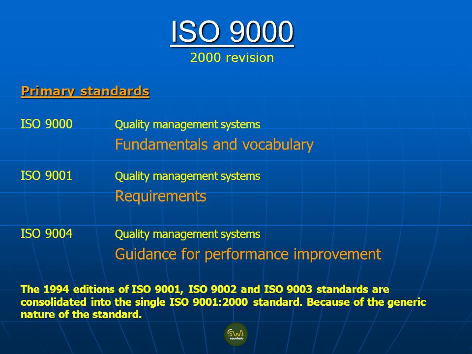 ISO revision Primary standards