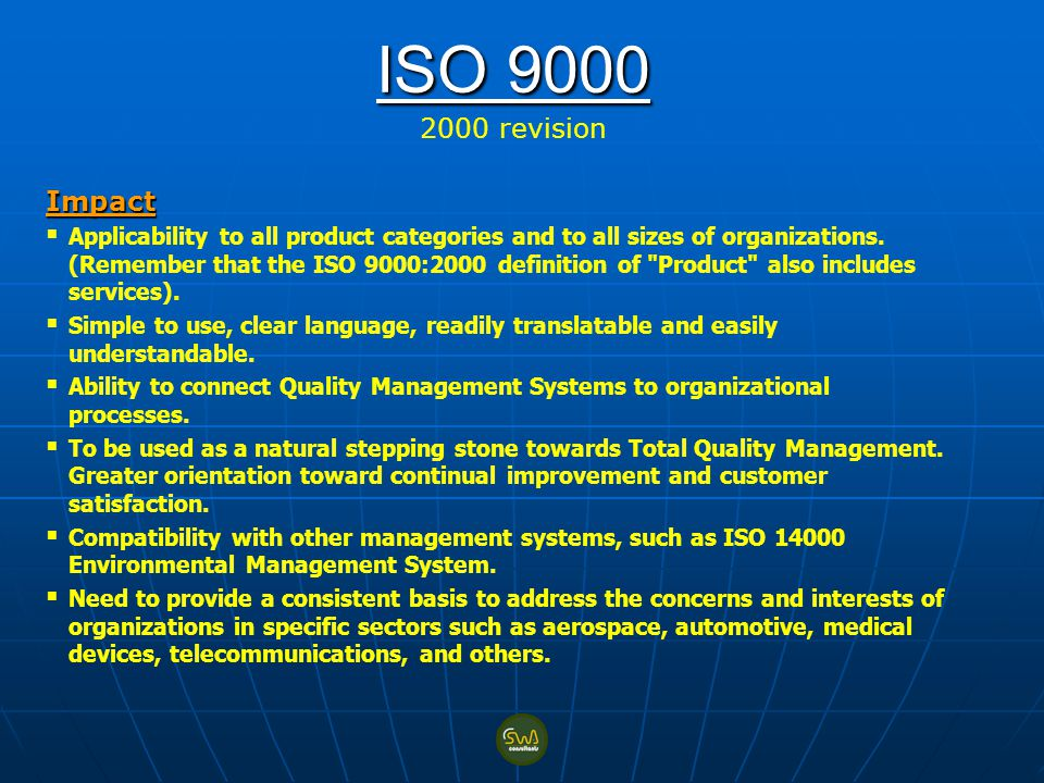 ISO revision Impact.