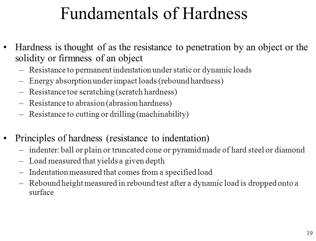 Fundamentals of Hardness