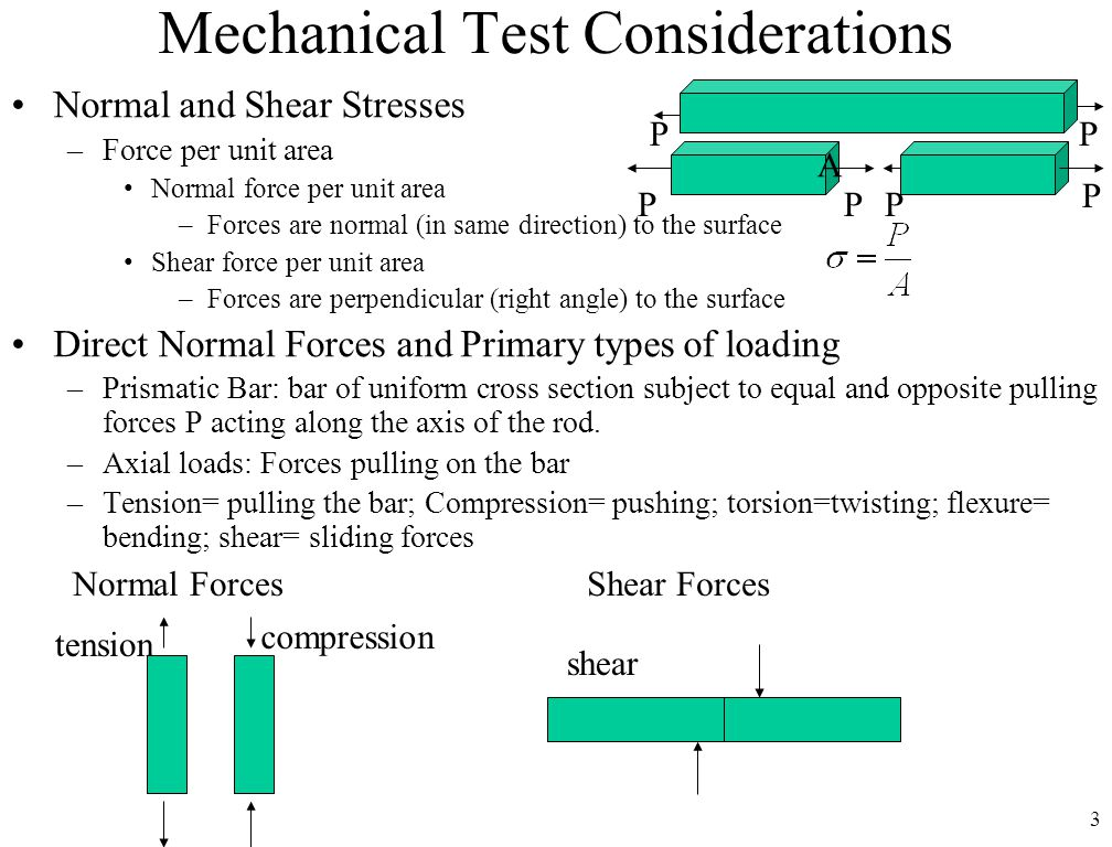 Mechanical Test Considerations