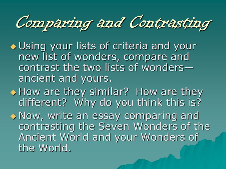 wonders of the world ppt video online 17 comparing and contrasting
