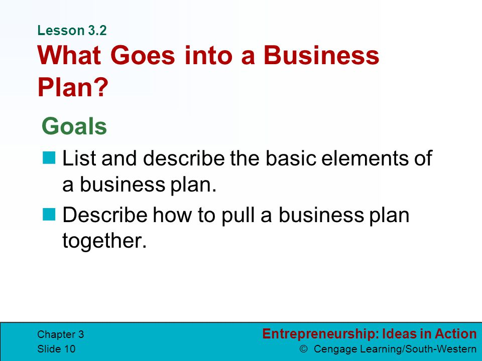 The 3 Key Elements of a Business Plan