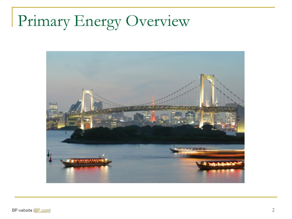 Primary Energy Overview