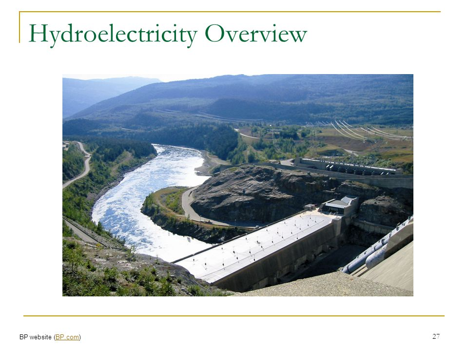 Hydroelectricity Overview