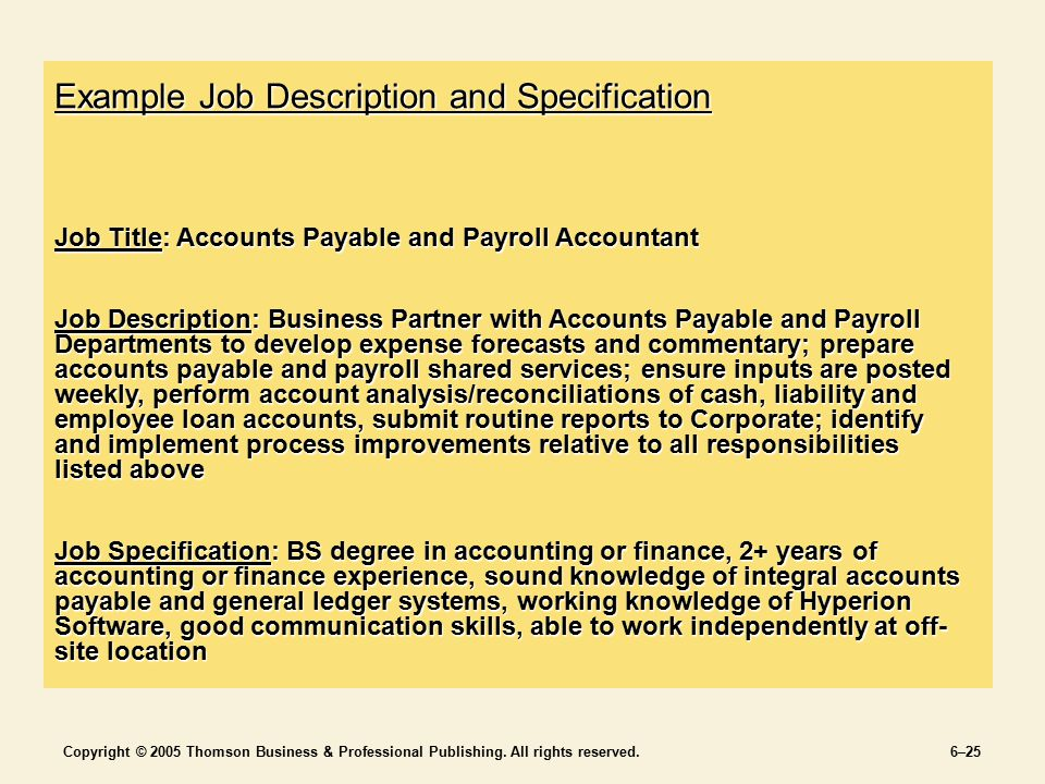 Jobs And Job Analysis Chapter 6 Section 2 Staffing The