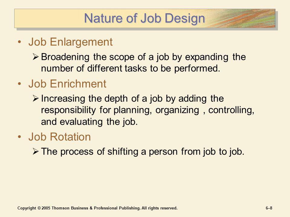job rotation enlargement enrichmnet To find clarity in the gray areas between job enrichment and job enlargement, get  to know your employees as individuals learn about what.
